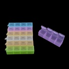 4 compartimentos 7-Day Pill Case Organizador - multicolor