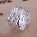 Fashionable Silver Plating Ring - Silver (U.S Size 9)