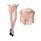 Fashionable Women's Cotton Slim Legging Pants - Pink