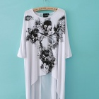 Fashion Skulls Dovetail Rock T-Shirt Dress - White (Size S)