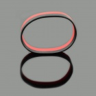 Jtron Fashion Silicone Energy Bands Bracelet - Black + Red