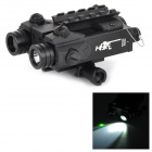 FX-2LG 20mW 532nm Green Laser Sight + LED 2-Mode Flashlight for Rifles / M4 - Black (2 x CR123A)