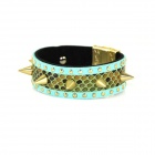 Fashion Personality Punk Style Golden Rivet / Spike Bracelet - Blue