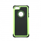 Fashionable 2-in-1 Protective Silicone Back Case for IPHONE 5 / 5S - Green
