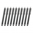 Touch Screen Stylus Pen w/ Clip for IPHONE / IPAD / Samsung + More - Black (10 PCS)
