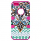 Aztec Indians Maya Tribe Pattern Retro Protective Silicone Back Case for IPHONE 5 / 5S - Deep Pink