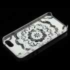 Bowknot Pattern Protective Plastic Back Case for IPHONE 5 / 5S - Sky Blue