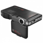 "720P 2.0"" TFT 1.3 MP HD Car RD + DVR w/ Radar Speed Detector G-sensor / Radar Laser Detector - Black"