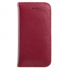 KALAIDENG Protective PU Leather Case Cover Stand for IPHONE 5 / 5S - Wine Red