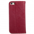 KALAIDENG Suojaava PU Leather Case Cover jalusta iPhone 5 / 5S-Wine Red
