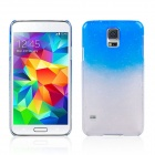Water Drop Pattern Protective Plastic Back Case for Samsung Galaxy S5 - Transparent + Blue