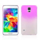 Water Drop Pattern Protective Plastic Back Case for Samsung Galaxy S5 - Transparent + Pink