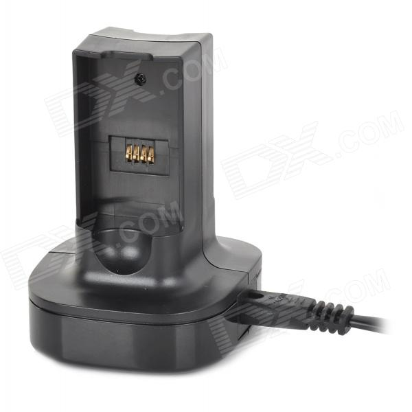 Battery Charging Dock w/ LED Indicator + EU Plug Charging Cable for XBOX360 - Black (130cm) леска для триммера bosch art3735