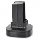 Battery Charging Dock w/ LED Indicator + EU Plug Charging Cable for XBOX360 - Black (130cm)