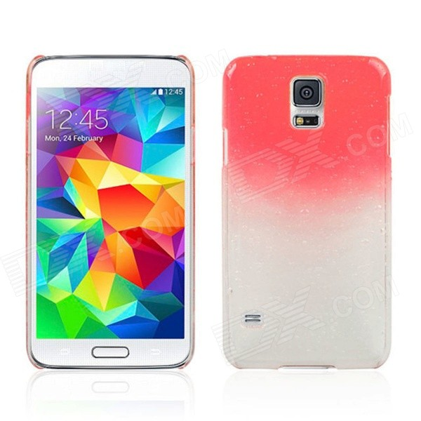 все цены на Water Drop Pattern Protective Plastic Back Case for Samsung Galaxy S5 - Transparent + Red онлайн