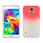 Water Drop Pattern Protective Plastic Back Case for Samsung Galaxy S5 - Transparent + Red