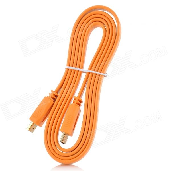 Gold-Plated HDMI Male to Male Video Connection Cable - Orange (1.5M) диски helo he844 chrome plated r20