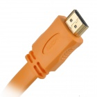 Gold-Plated HDMI Male to Male Video Connection Cable - Orange (1.5M)