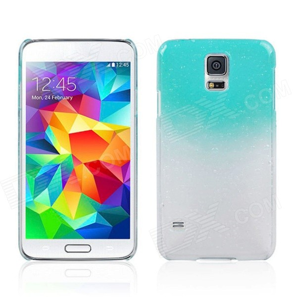 все цены на Water Drop Pattern Protective Plastic Back Case for Samsung Galaxy S5 - Transparent + Light Blue онлайн