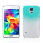 Water Drop Pattern Protective Plastic Back Case for Samsung Galaxy S5 - Transparent + Light Blue