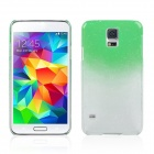Water Drop Pattern Protective Plastic Back Case for Samsung Galaxy S5 - Transparent + Green