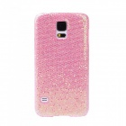 Fashionable Shimmering Powder Style Protective Plastic Back Case for Samsung Galaxy S5 - Pink
