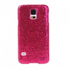 Fashionable Shimmering Powder Style Protective Plastic Back Case for Samsung Galaxy S5 - Deep Pink