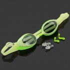 Balance 908 Anti-Fog Polycarbonate Lens Swimming Goggles Glasses - Buff + Green