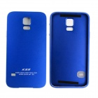 Protective Aluminum Alloy Back Case Frame Cover for Samsung Galaxy S5 - Blue