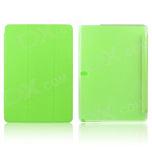 ENKAY ENK-7044 3-Fold PU Leather Case Cover Stand for Samsung Galaxy Tab Pro 10.1 T520 - Green