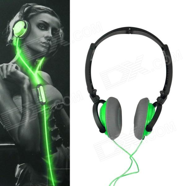 Power4 HP002 Hi-Fi Lighting Stereo Headband Headphone w/ Microphone / Remote - Green trendwoo® twins bluetooth wireless speaker support 2 0 left and right stereo sound surround with built in microphone hands free music player