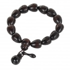 Fenlu ZMSL001 Heart Shaped Beads Jujube Wood Bracelet - Taupe