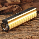 LLJ-01 CREE XP-E Q5 120lm 3-Mode Cool White Flashlight - Golden (Built-in 2000mAh Li-ion Battery)