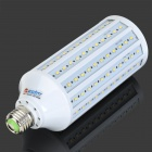 ZDM E27 25W 2300lm 3500K 165-2835 SMD LED Warn White Corn Light Lamp - White + Silver