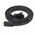 High Definition 1080P HDMI Male to VGA Male Adapter Cable - Black (200cm)