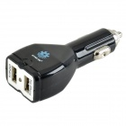 STAR GO ST-07 5V 2.1A Dual USB Output Car Charger w/ LED Indicator for Cellphone + More - Black