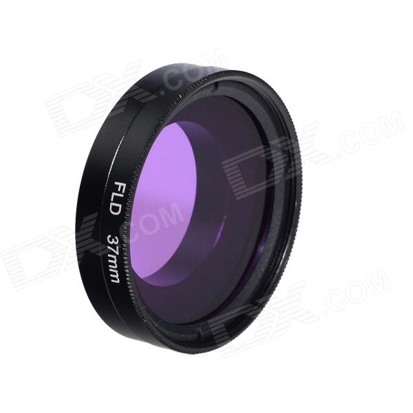 HighPro 37mm Purple Color Correction Filter Filter w/ Flip Converter for GoPro Hero 3 / 3+ - Black