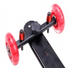 DEBO 60cm Video Camera Smooth Track Wheel for SLR - Black + Red
