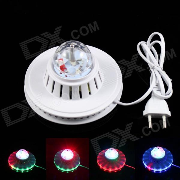 KINFIRE 8W 6000mcd 51-LED RGB Sunflower Light - White (AC 90~240V / EU Plug / 105cm-cable)