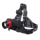 Outdoor Waterproof F07 Color Rechargeable Multifunction Dual-use Bike Lamp / Headlamp - Black + Red