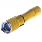 Cree XP-E Q5 220lm 3-Mode White Flashlight with Compass - Golden (1 x 18650)