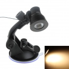 SPL MP 3W 180lm 3500K Car / Desktop USB Warm White Light Spotlight w/ Separate Switch - Black