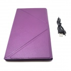 "BK169 9"" Bluetooth V3.0 65-Key Keyboard w/ Protective PU Leather Case for IPAD / Samsung - Purple"