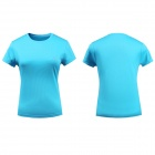 LANGZUYOUDANG 2170 Women's Outdoor Sports Quick-Dry Short-sleeved Dacron T-shirt - Blue (Size M)