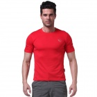 Men's Outdoor Sports Quick-Dry Short-sleeved Dacron T-shirt - Red (Size M)