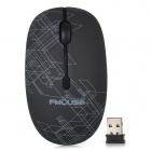 FMOUSE M101 USB 3.0 2.4G 1600dpi Wireless Ergonomic Mouse w/ Receiver - Black (1 x AA)
