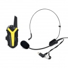 X3 PVC 3W 16-CH 409 MHz / 462 MHz Bike / Motorcycle Helmet Walkie Talkie Set - Black + Yellow