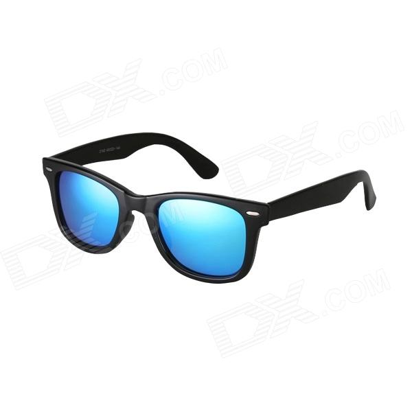 Reedoon 2140 Big Frame Ladies' Sunglasses - Black + Blue reedoon 1417 trend of the goddess hip hop sunshade sunglasses black golden