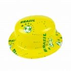Plastic Hat Cap for World Cup Fans of Brazil National Football Team - Yellow + Green