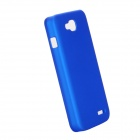 EPGATE A00487 emborrachado Matte Snap-On Glossy Magro Case for LG Optimus L90 D410 D405 - Azul